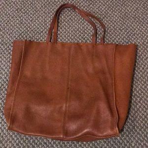 Gap leather tote bag